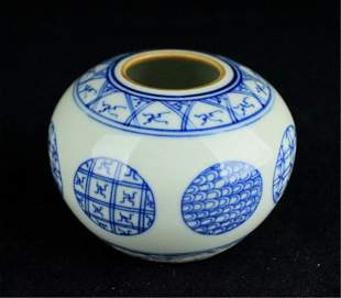 Small Chinese Qing Porcelain Blue&White Jar