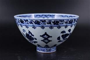 Ming Porcelain Blue&White Bowl