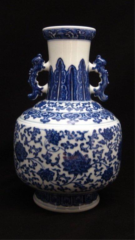 Qing dynasty style Blue & White large vase
