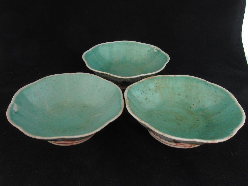 A set of famille rose bowls