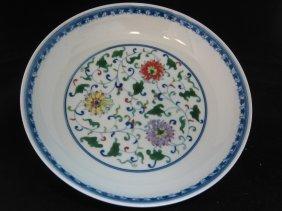 A Doucai Floral Plate