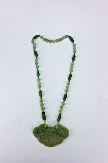 Chinese Jade beaded Necklace and Pendant