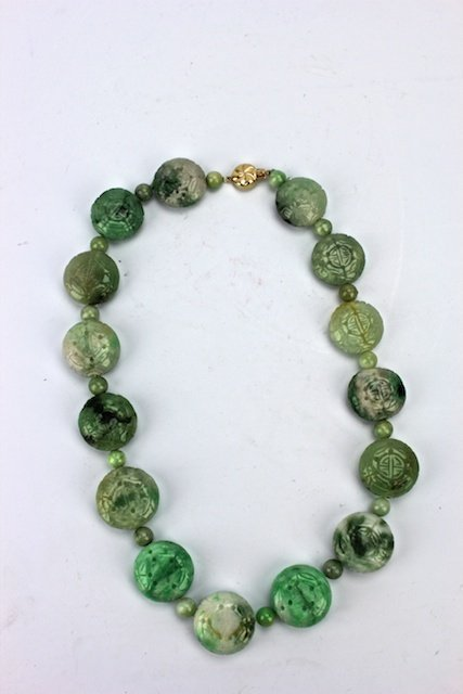 Chinese Jade and Jadeite Necklace