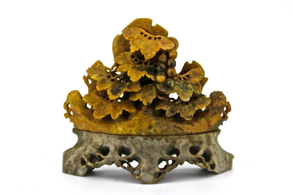 Chinese Yellow Stone Carved Grape Mountain