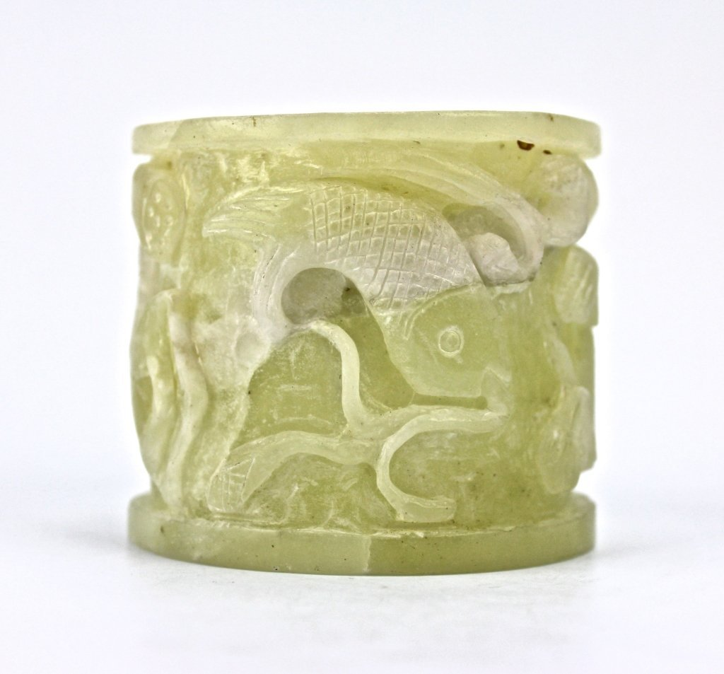 Large Chinese Jade/Stone Carved Cylinder