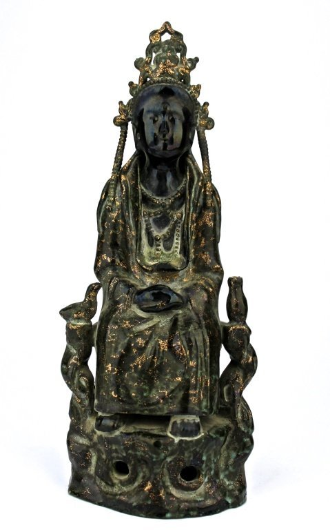 Chinese Black Stone/Jade Guan Yin