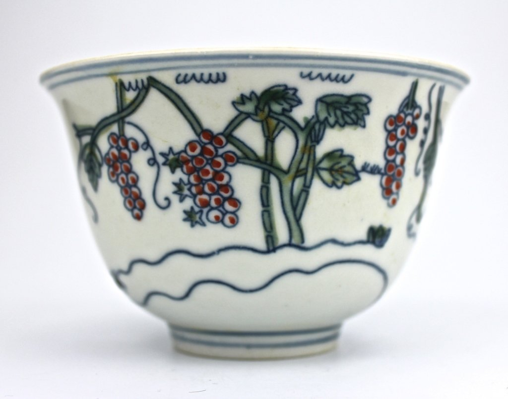 Chinese Ming Dou Cai Grapes Cup