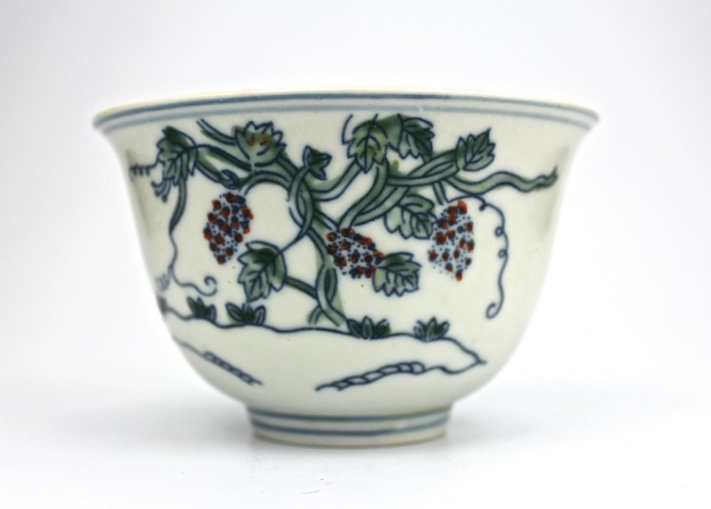 Chinese Ming Dou Cai Grapes Cup - 2