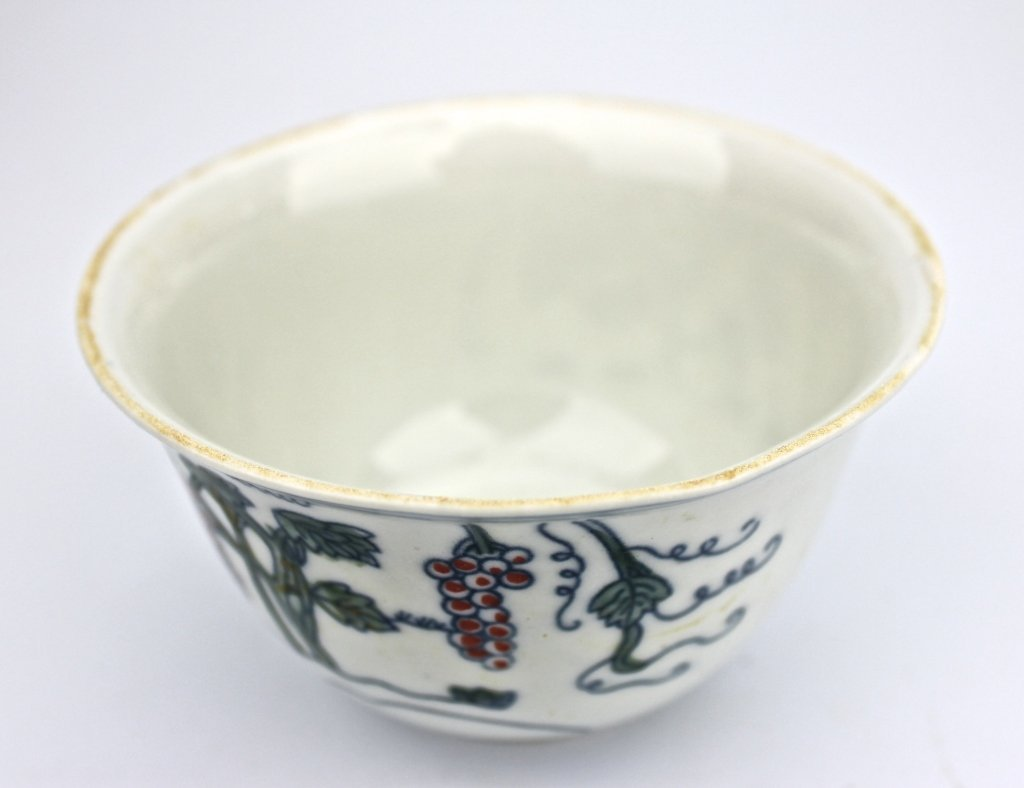 Chinese Ming Dou Cai Grapes Cup - 3