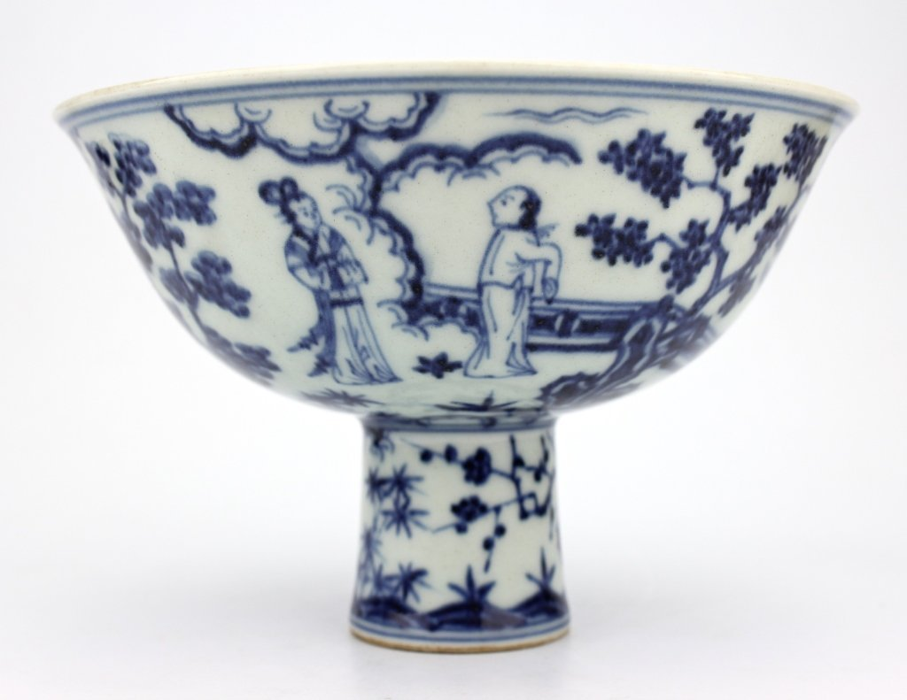 Chinese Ming Dynasty Large Blue&White Hand Cup