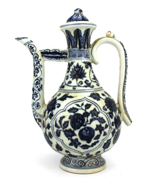 Chinese  Ming Dynasty Blue and White Wine Jug