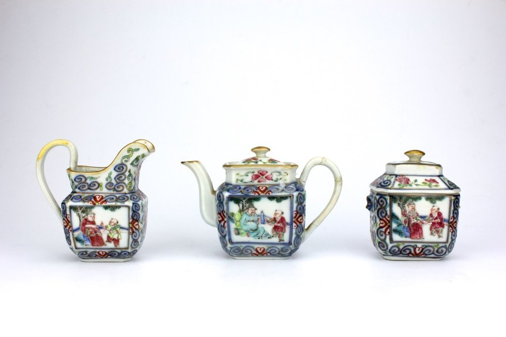 Set of Chinese Qing Dynasty Teapot