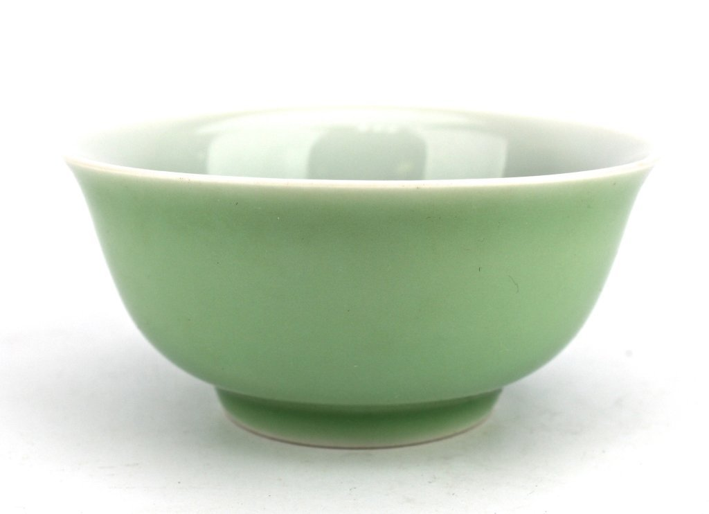 Chinese Qing Light Green Porcelain Bowl