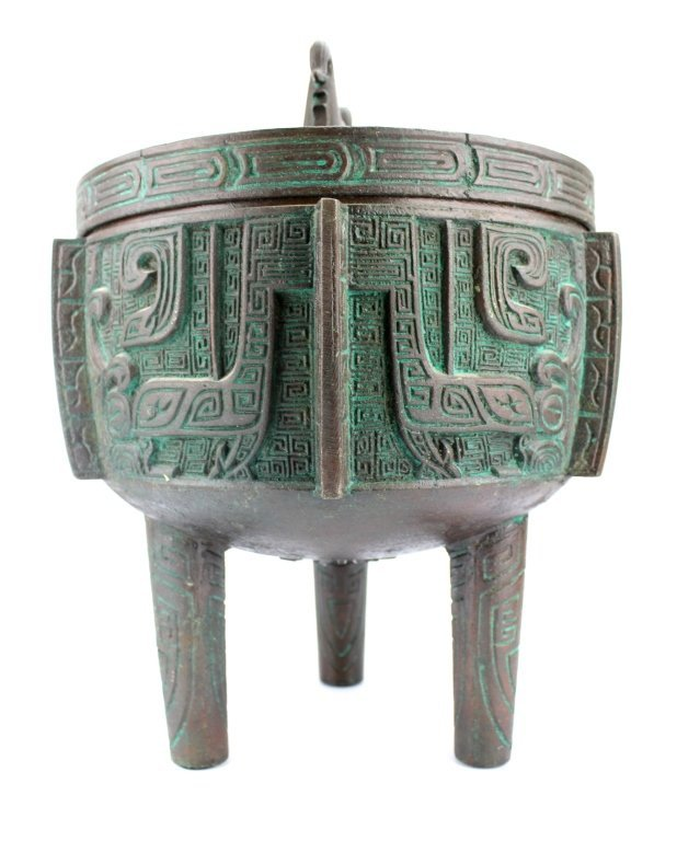 Large Chinese Bronze Urn