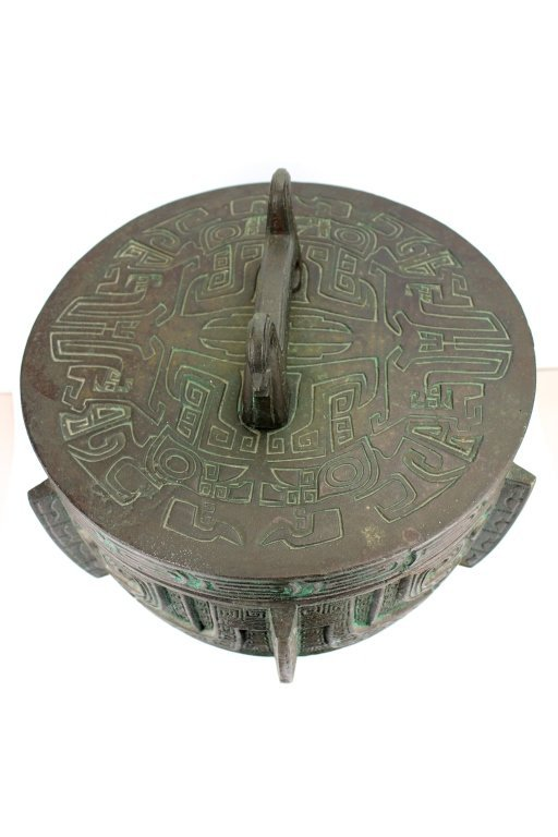 Large Chinese Bronze Urn - 3