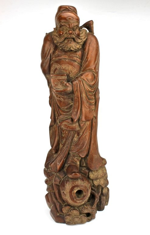 Chinese Hard wood LuoHan figure