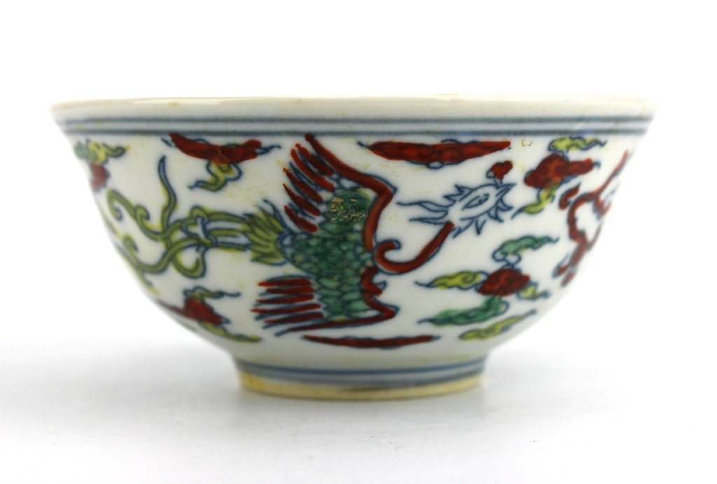 Chinese Qing DouCai Porcelain Bowl
