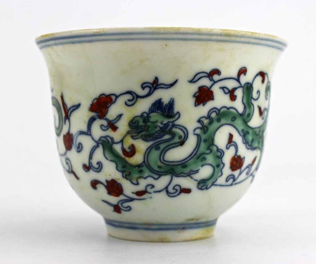 Chinese Ming DouCai Porcelain Cup