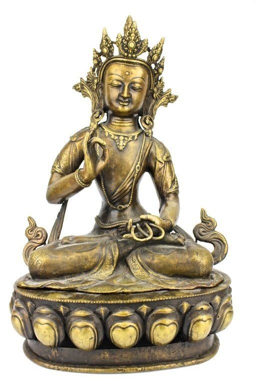 Chinese Gilt-Bronze Large Buddha