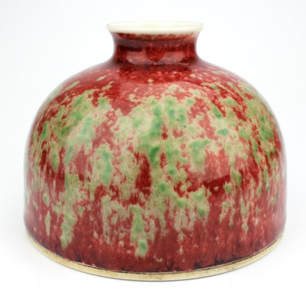 Chinese small red flambe glazed vase