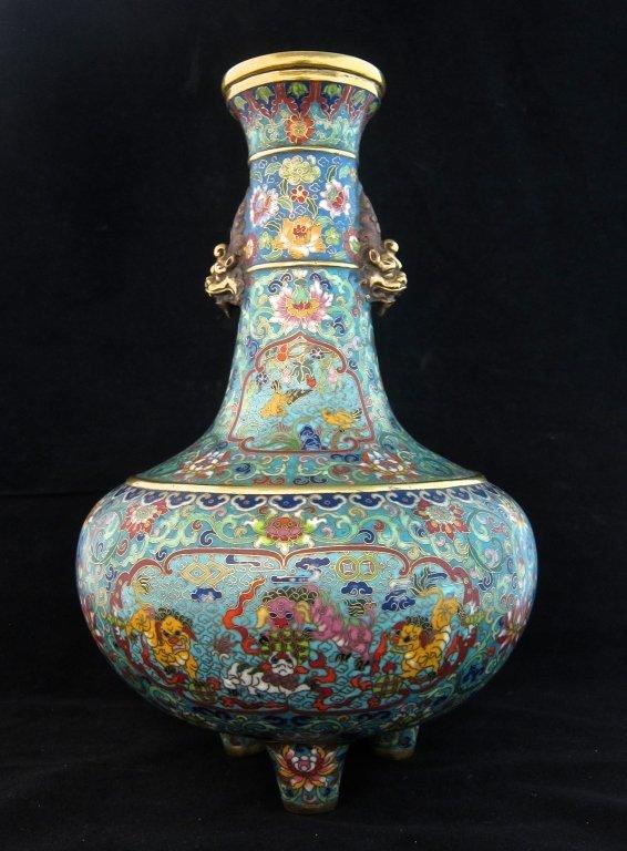 Imperial Large Chinese Enamel Cloisonne Vase