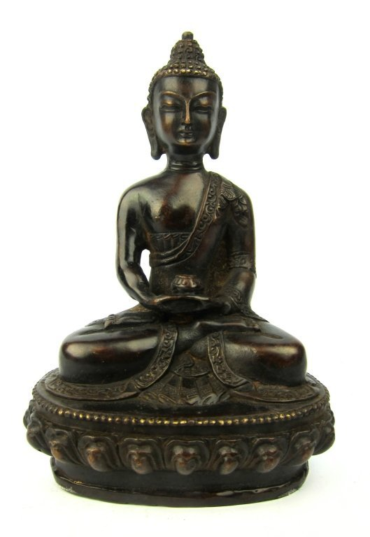 Old Chinese Bronze Buddha Figure