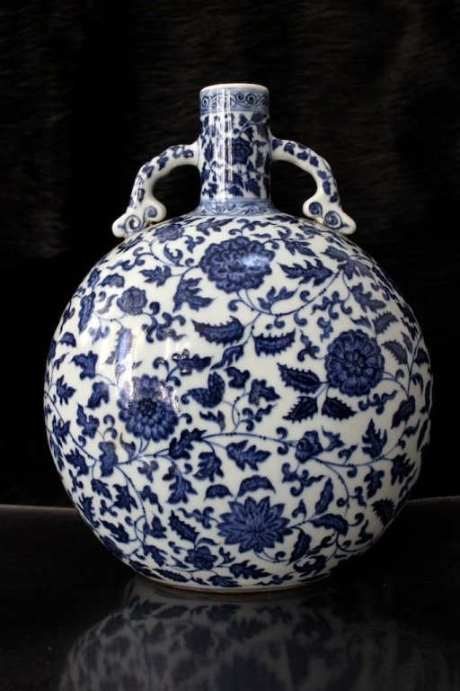 Chinese Qing Qian Long Porcelain Blue&White Vase