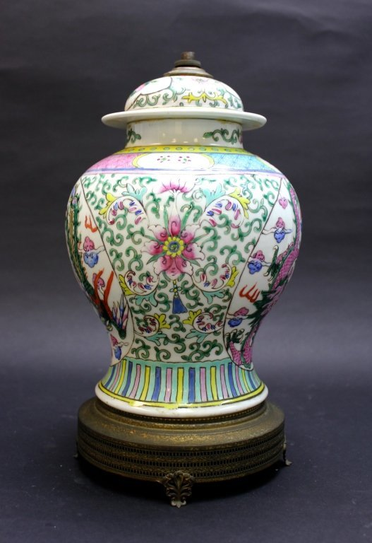 Old Chinese Porcelain Vase Lamp