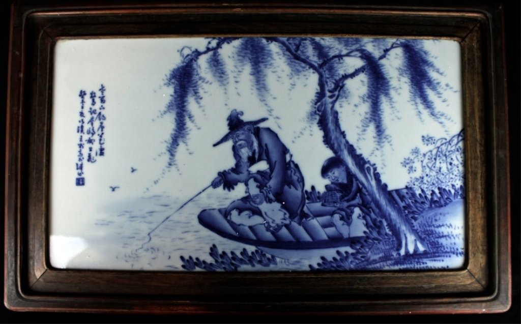 Large Chinese Porcelain Blue&White Plaque