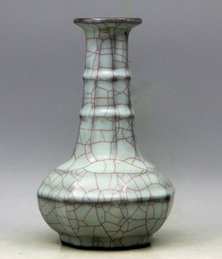 Chinese Song Porcelain Guan Yao Crackle Vase
