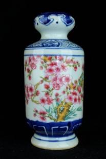 Chinese Qing Porcelain Blue&White Flower Vase