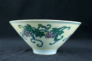 Chinese Ming Porcelain DouCai Bowl