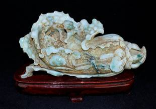 Old Chinese Natural Hand Carved Jadiete Figure