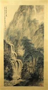 Chinese Scrolled Painting Signed by Fu Bao Shi