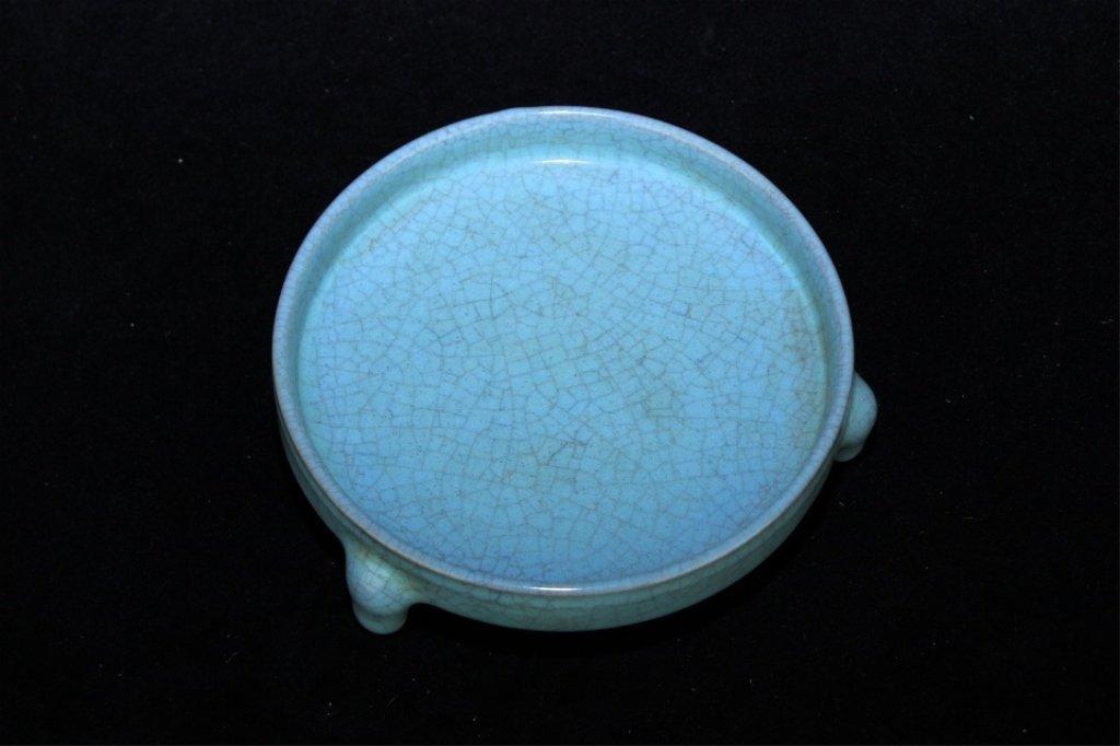 Chinese Song Porcelain Ruyao Brush Pot_x000D_ 5 3/4 x 1