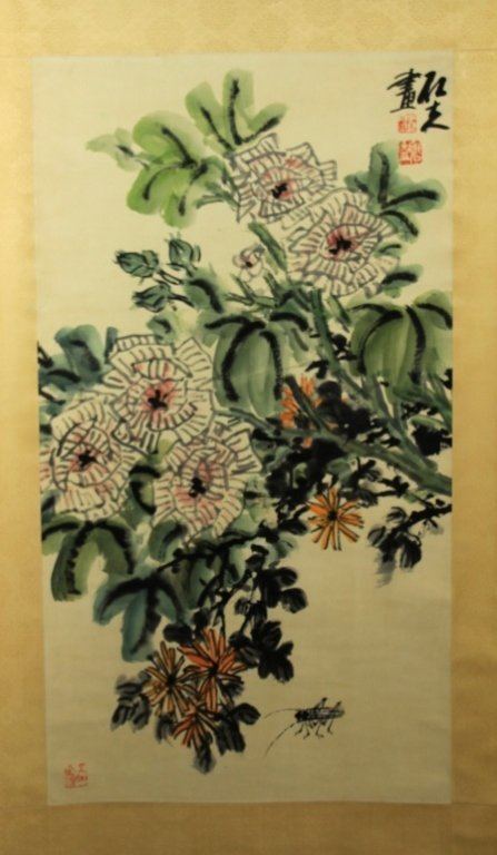 Chinese Scrolled Painting Signed by Guo Shi Fu_x000D_