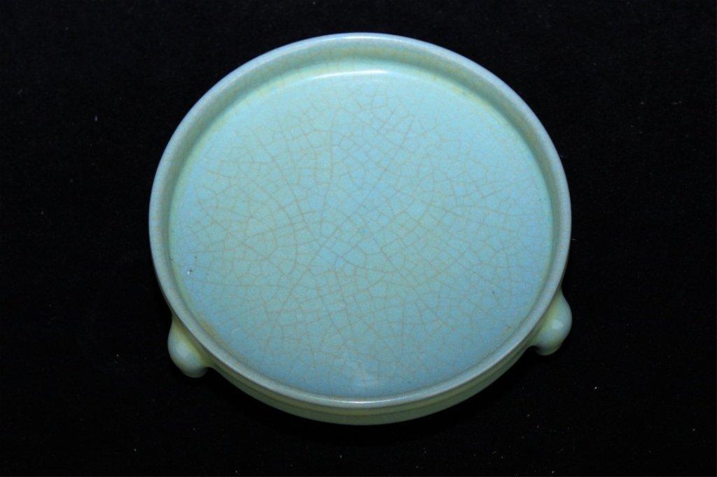 Chinese Song Porcelain Ruyao Brush Pot_x000D_ 5 1/4 x 1