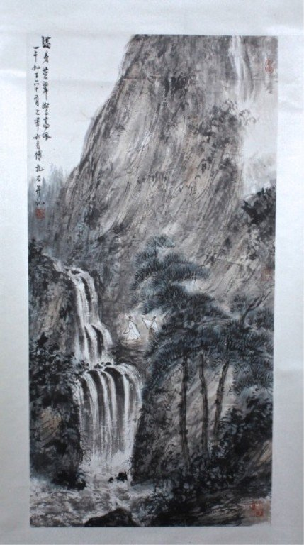 Chinese Scroll Painting Signed by Fu Bao Shi