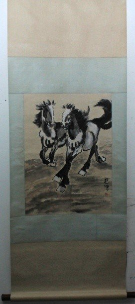 Chinese Scroll Painting Signed by Xu Bei Hong