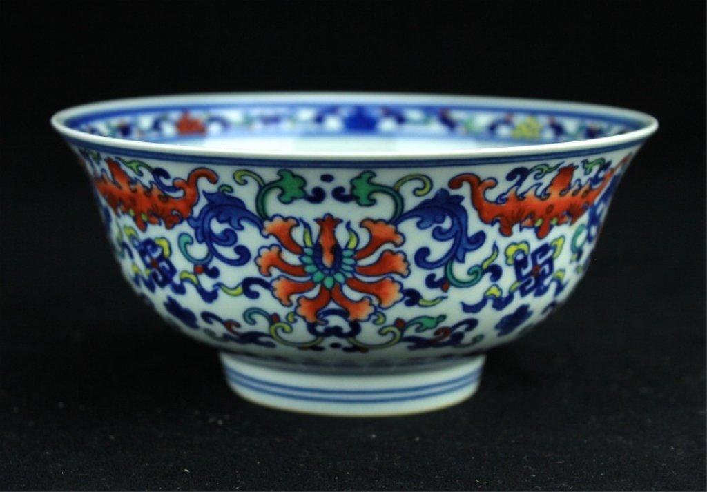 Chinese Qing Porcelain DouCai Bowl
