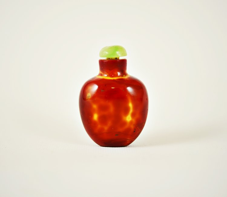 Chinese Red Glass Snuff Bottle