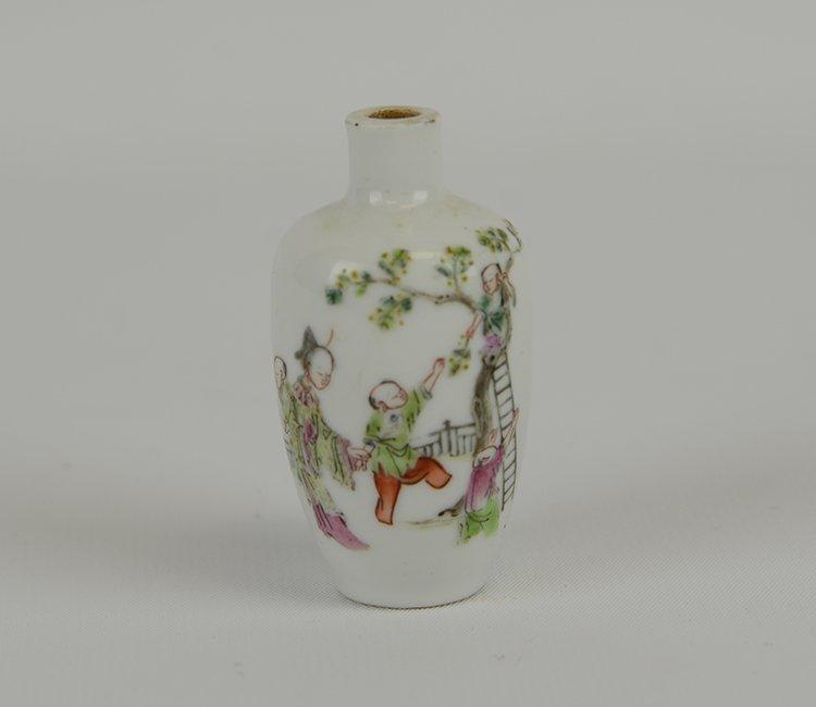 Xianfeng Mark & Period  Porcelain Snuff Bottle