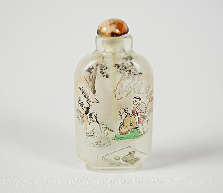 Yong Shoutian Glass Snuff Bottle
