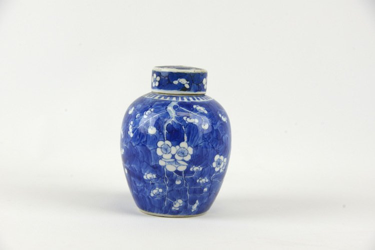 19th C. Chinese Blue & White Porcelain Ginger Jar