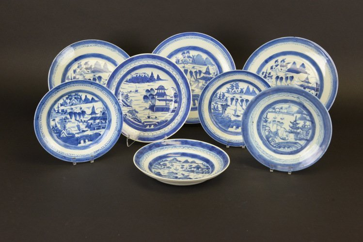 19th C. Chinese Export Canton Porcelain Dishes
