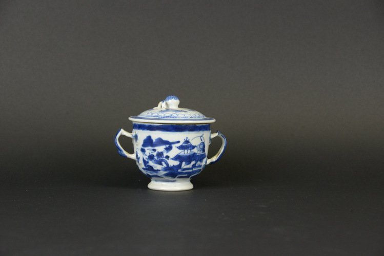 19th Century Chinese Export Canton Sugar Bowl