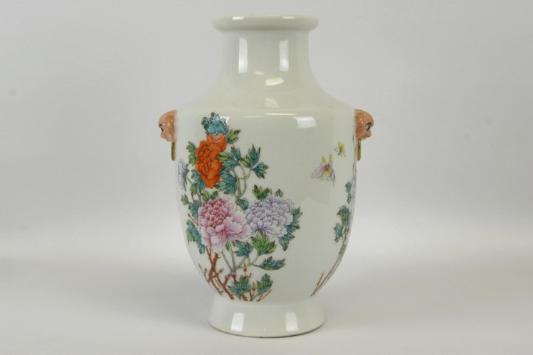 Republic Period Chinese Famille Rose Vase