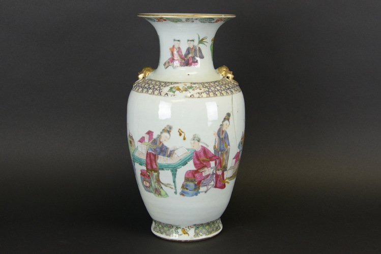 19th Century Chinese Famille Rose Baluster Vase