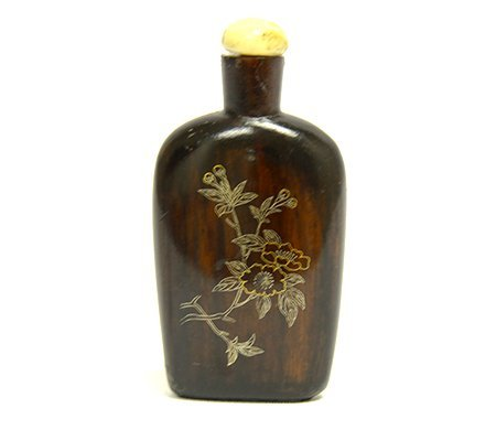 Chinese Rosewood Snuff Bottle
