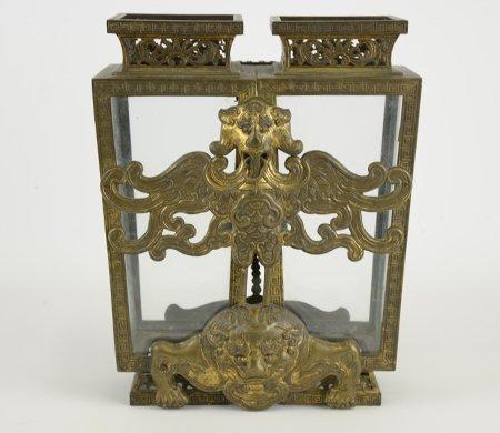 Qianlong Chinese Gilt Bronze Champion Lantern